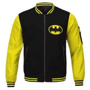 Amazing The Batman Bruce Wayne Black And Yellow Varsity Jacket