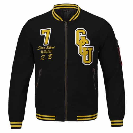 Gotham City University Victor Stone Cyborg Amazing Varsity Jacket