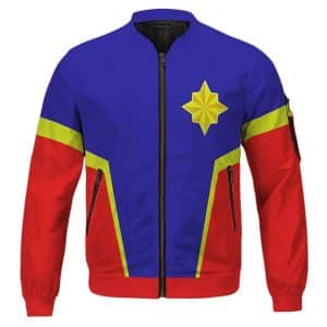 Captain Marvel Carol Danvers Costume Cosplay Bomber Jacket