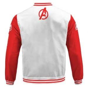 Marvel's The Avengers Astounding Red And White Varsity Jacket
