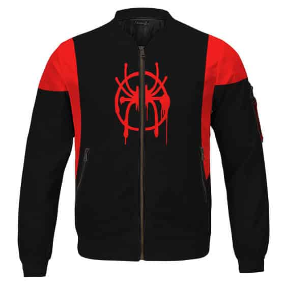 Spider-Man Miles Morales Into The Spider-Verse Bomber Jacket