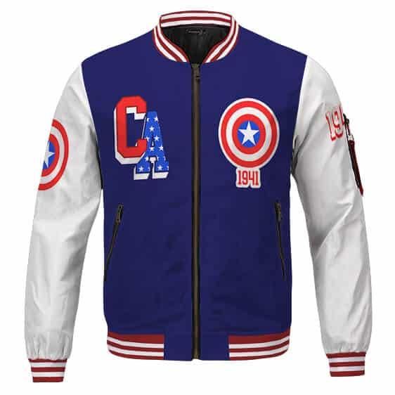 Captain America Steve Rogers 1941 Inspired Cool Varsity Jacket