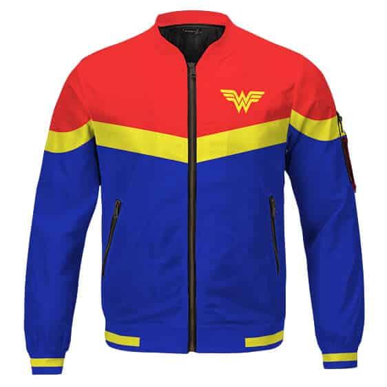 DC Universe Wonder Woman 1984 Classic Colors Varsity Jacket
