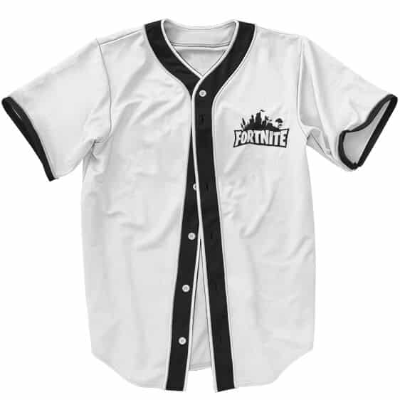 Awesome Fortnite Logo Minimalistic White Baseball Uniform