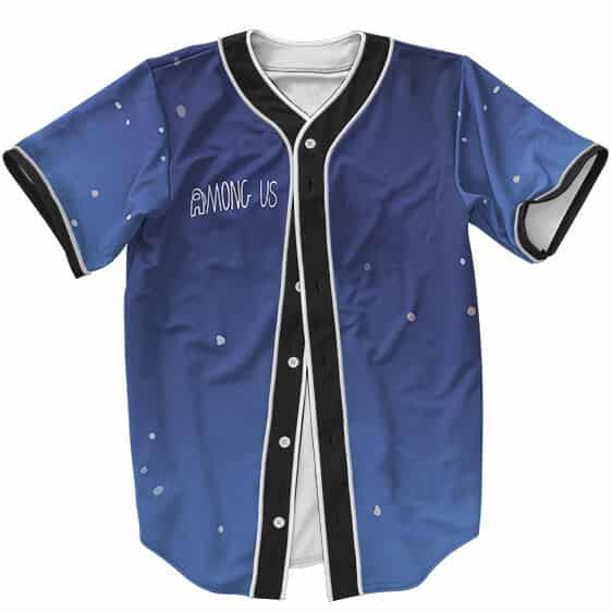Adorable Among Us Galaxy Lights Blue Baseball Jersey