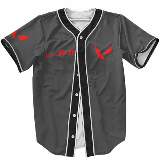 Riot Games Valorant Logo Esports Style Black Baseball Jersey