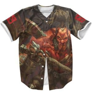 Dota 2 Mogul Khan The Berserker Axe Fierce Art Baseball Shirt