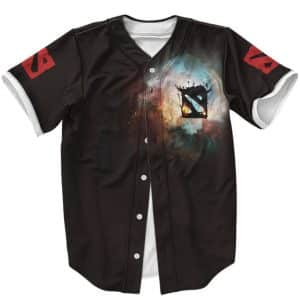 Awesome Dota 2 Logo Invoker Minimalistic Black Baseball Jersey