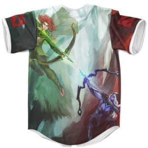 Drow Ranger Vs. Wind Ranger Dota 2 Artwork Cool Baseball Shirt
