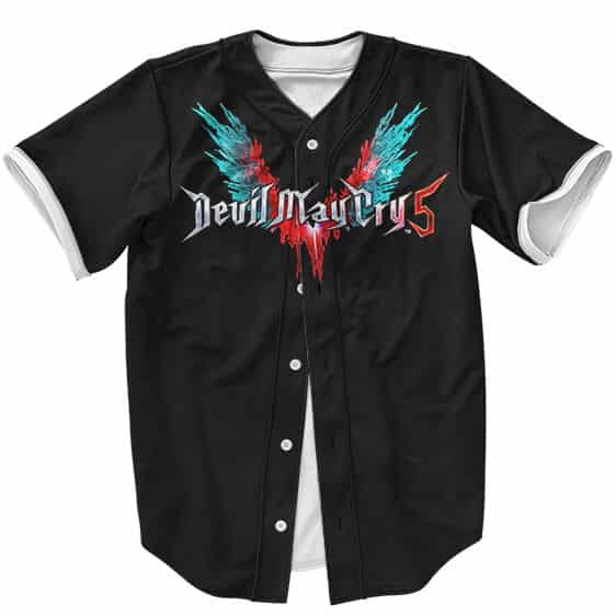 Cool Devil May Cry 5 Logo Devil Trigger Wings Baseball Jersey