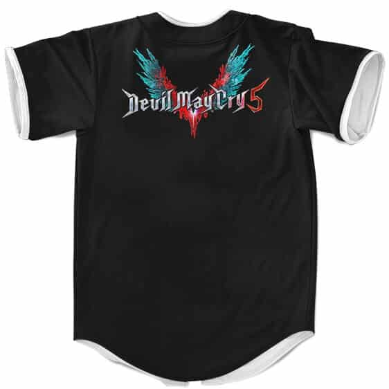 Devil May Cry 5 Nero With Red Queen Epic Pose Baseball Shirt