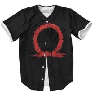 God Of War Greek Omega Symbol Minimalistic Black Baseball Shirt