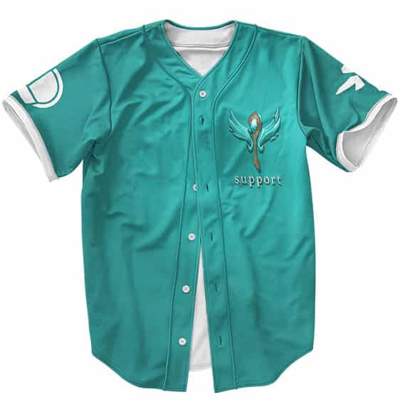 League Of Legends Support Icon Turquoise Baseball Uniform