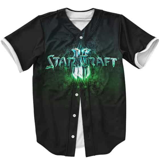 Vintage StarCraft II Logo Minimalistic Design Baseball Jersey