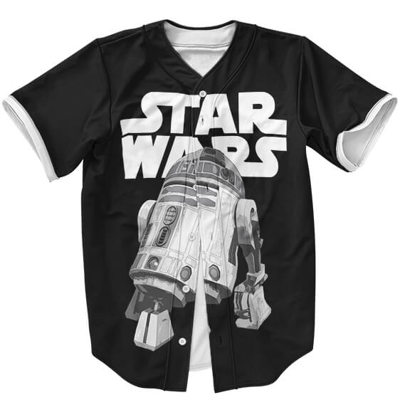 Star Wars Iconic Droid R2-D2 Awesome Black Baseball Jersey