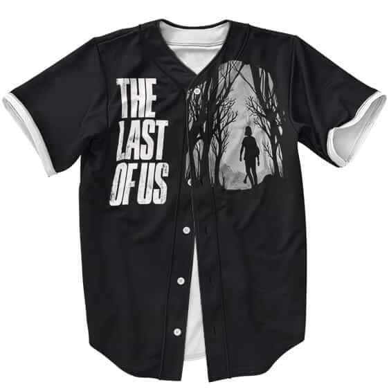 The Last Of Us Ellie Silhouette Dope Black Baseball Uniform