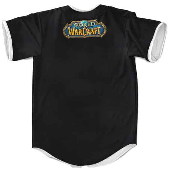 World Of Warcraft Fearsome Horde Crest Logo Baseball Shirt