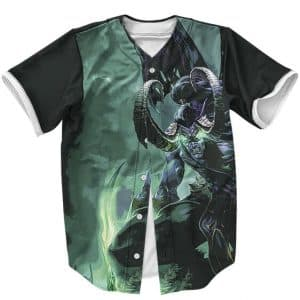 World Of Warcraft Illidan Stormrage Epic Pose Baseball Jersey