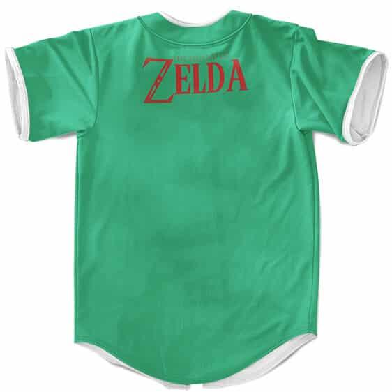 Legend Of Zelda Epic Link I'm Not Zelda Green Baseball Shirt