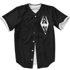The Elder Scrolls Skyrim Crest And Dragonborn Baseball Uniform