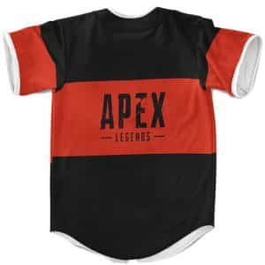 Apex Legends Awesome Logo Red And Black Baseball Uniform