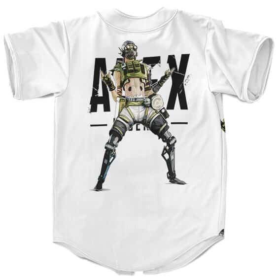 Apex Legends Octane The Adrenaline Junkie White Baseball Shirt