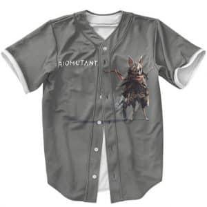 Awesome Biomutant Murgel Breed Portrait Gray Baseball Shirt