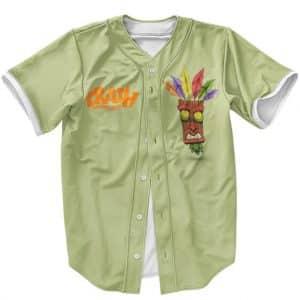 Amazing Crash Bandicoot Aku Aku Mask Spirit Baseball Jersey