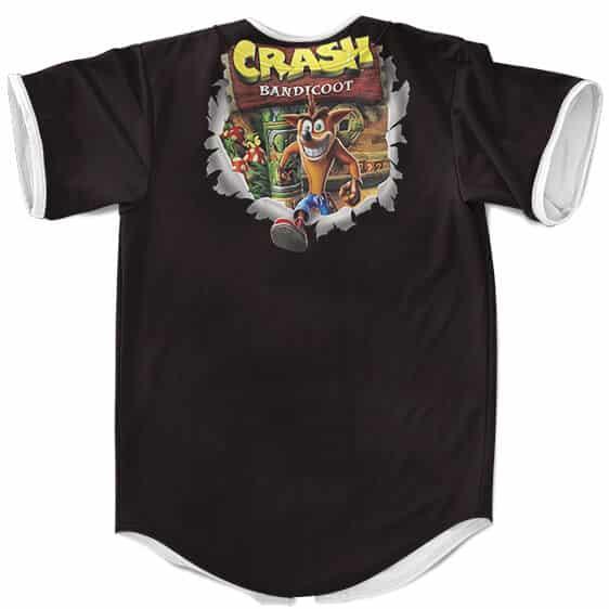 Awesome Crash Bandicoot Iconic Portrait Art Baseball Shirt