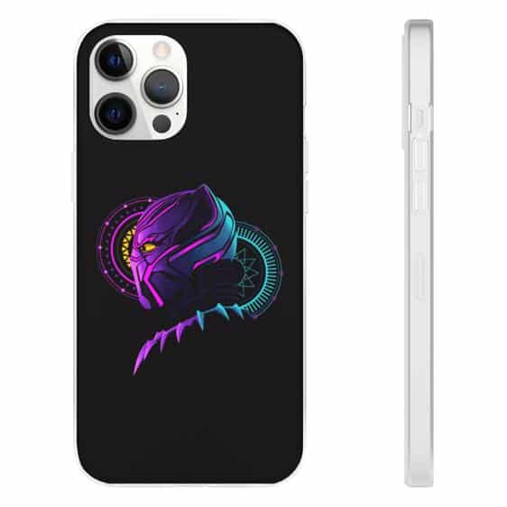 Black Panther Pink and Blue Spell Disc iPhone 12 Cover