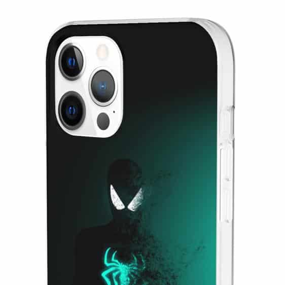 Black Spider-Man Fading Silhouette iPhone 12 Cover
