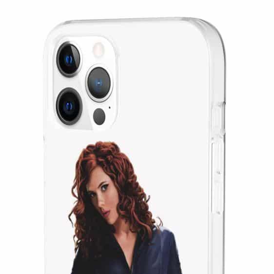 Black Widow Agent Natasha Romanoff White iPhone 12 Cover