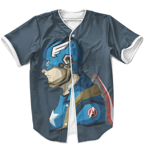 Captain America Flat Design Artwork Cool Baseball Jersey
