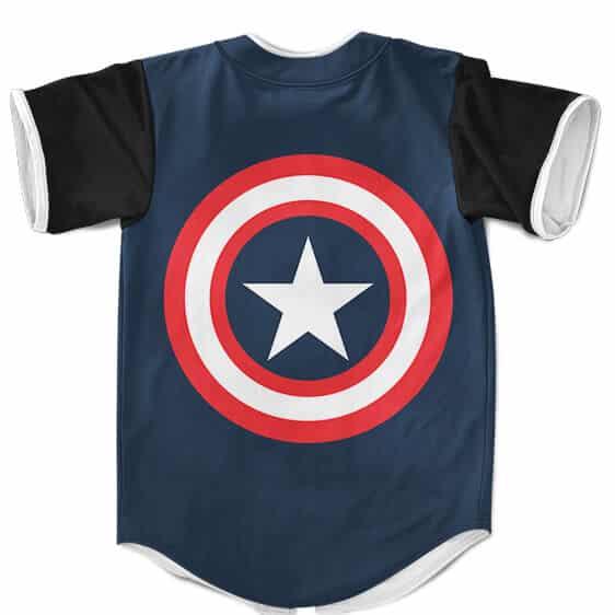Captain America Shield Stylish Dark Blue Baseball Jersey
