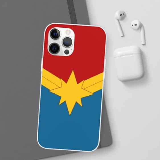 Captain Marvel Minimalist Suit Logo iPhone 12 Case