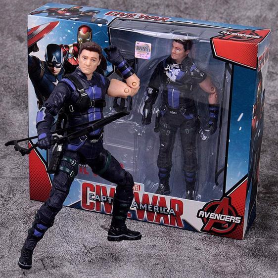 Civil War S.H.I.E.L.D. Agent Hawkeye Posable Figure