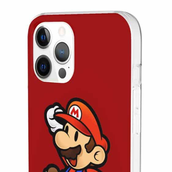 Classic Jumping Super Mario Red iPhone 12 Fitted Cover