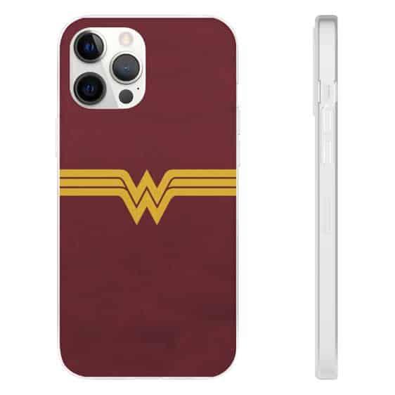 Classic Wonder Woman Minimalist Logo Red iPhone 12 Cover