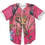 Cute But Deadly Groot Fighting Villains Pink MLB Jersey