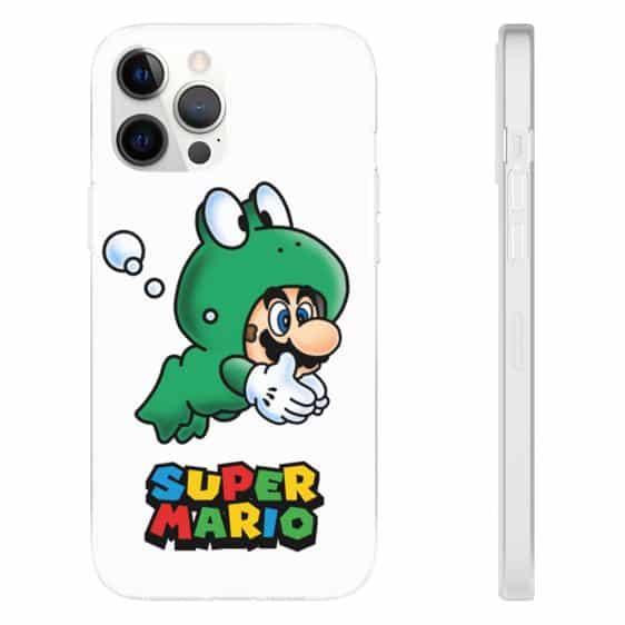 Cute Super Mario Frog Costume White iPhone 12 Cover