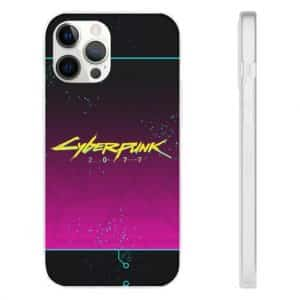Cyberpunk 2077 Logo Neon Pink iPhone 12 Fitted Case