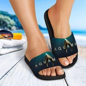 DC Aquaman Deep Ocean Movie Poster Amazing Slide Sandals