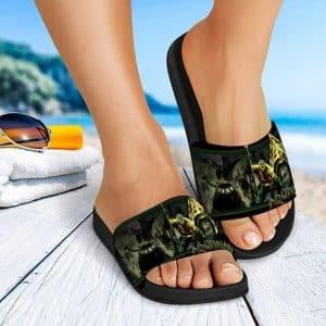 DC Aquaman King Of The Seven Seas Badass Slide Sandals