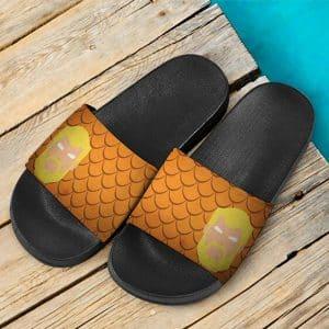DC Comics Aquaman Fish Scale Pattern Slide Sandals