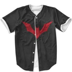 DC Comics Batman Beyond Red Bat Logo Dope Black MLB Jersey
