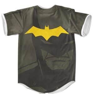 DC Comics Batman Iconic Yellow Bat Emblem Baseball Uniform