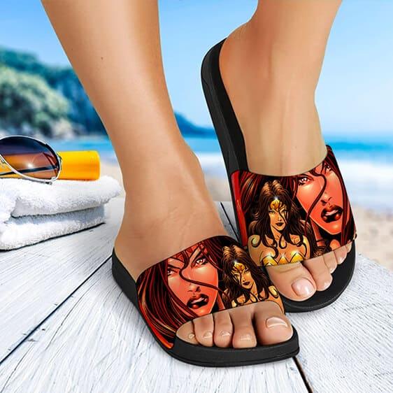 DC Comics Hero Wonder Woman Artwork Dope Slide Slippers