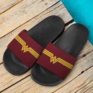 DC Comics Hero Wonder Woman Logo Stylish Slide Sandals