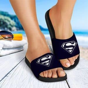 DC Comics Superman Iconic Suit Logo Blue Slide Sandals