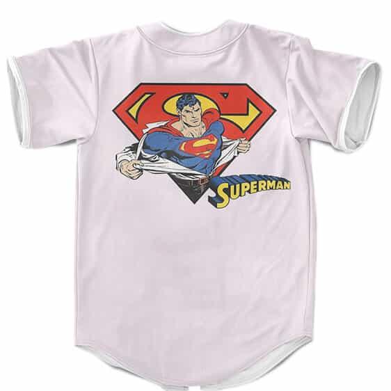 DC Comics Superman Man Of Steel Vintage Logo Baseball Shirt